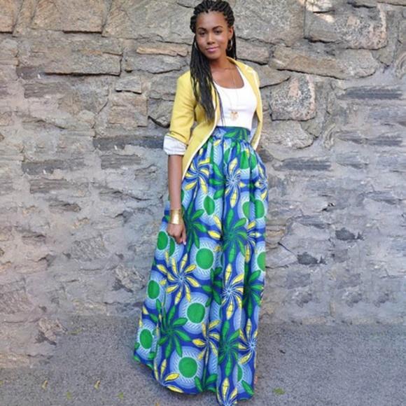 8a74d51b9e Skirts | Women African Print Long Ankara Dashiki High Waist | Poshmark